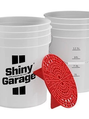 Shiny Garage wash bucket 20L + Red gridguard
