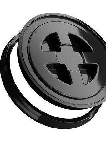 Black lid for wash buckets
